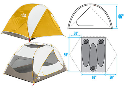 The North Face Talus 3  sc 1 st  Rent-a-Tent Canada : north face talus tent - memphite.com