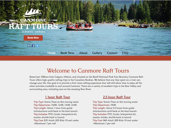 Rent a Tent Canada - Canmore Raft Tours
