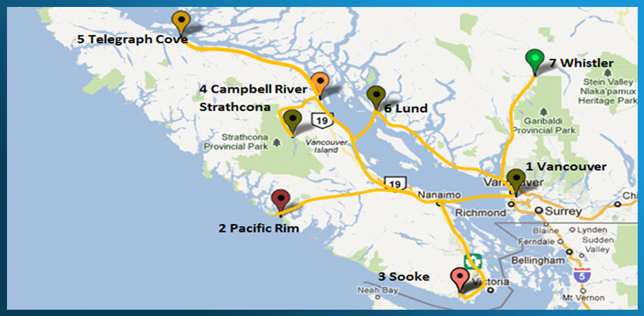 Rent a Tent Canada MAP west coast tour