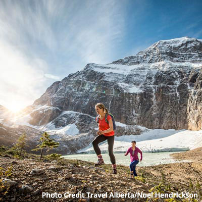 Rent a Tent Canada Wild hiking Mount Edith Cavell